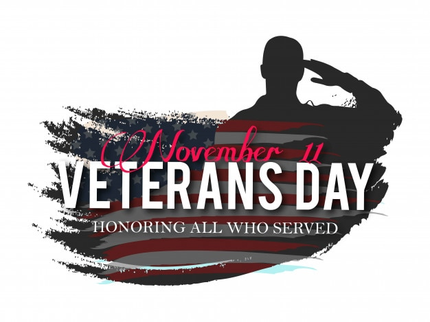 Ilustração criativa do vetor do dia dos veteranos Vetor Premium