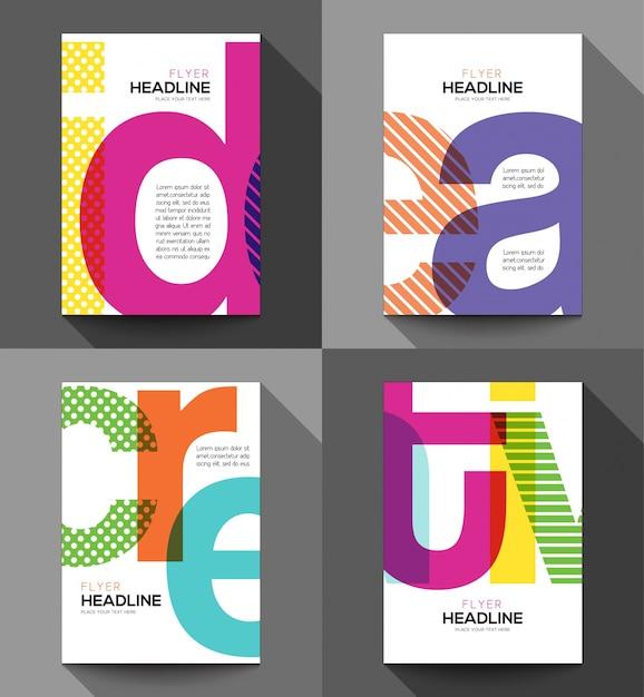 Ilustração criativa palavras tipografia Vetor grátis