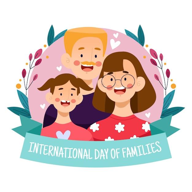 Ilustração criativa para o dia internacional das famílias Vetor grátis