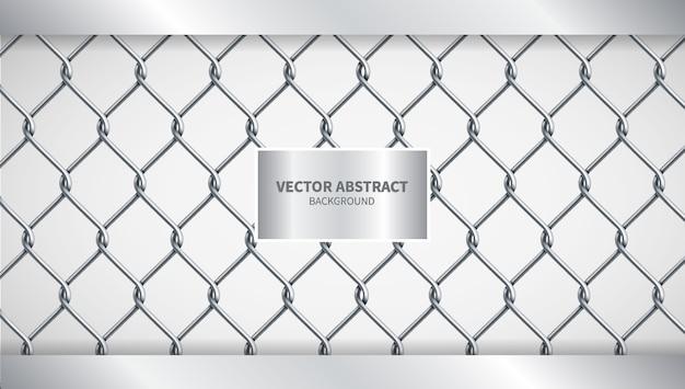Ilustração criativa vector fundo cadeia de cerca Vetor Premium