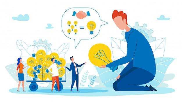 Ilustração da abordagem equilibrada das ideias de implementação. Vetor Premium