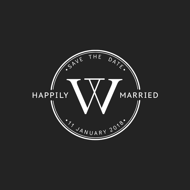 Ilustração da bandeira de carimbo de convite de casamento Vetor grátis