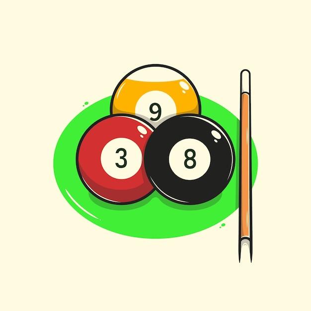 Ilustração da bola de bilhar Vetor Premium