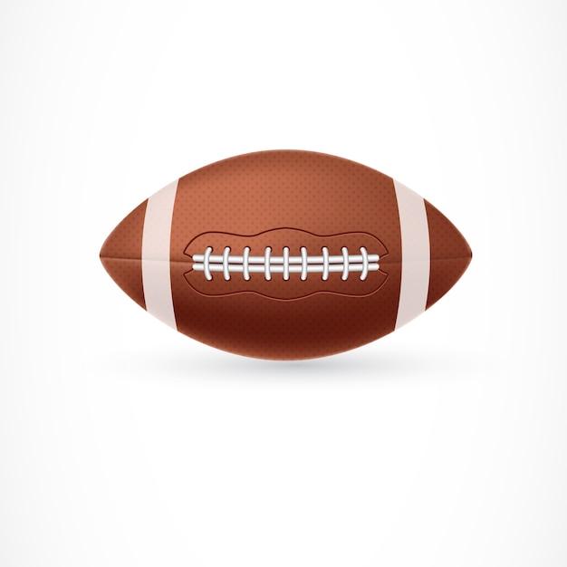 Ilustração da bola de rugby Vetor grátis