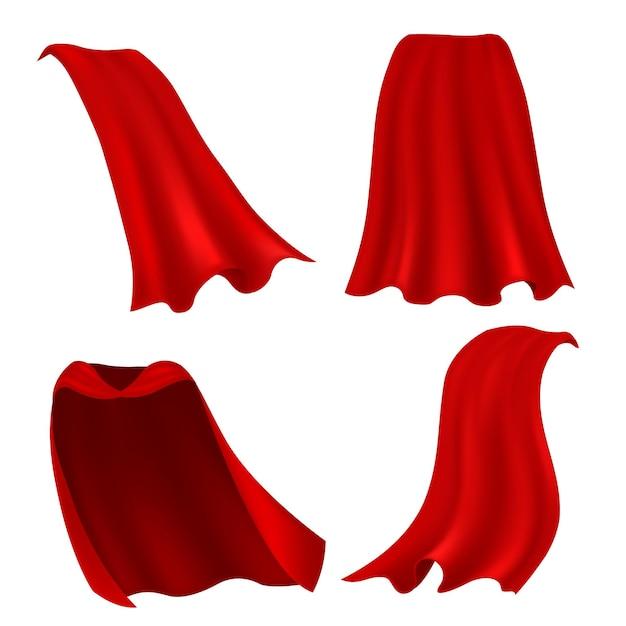 Ilustração da capa vermelha Vetor Premium