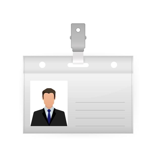 Ilustração da etiqueta de nome em fundo branco. modelo em branco. ,. ícone do vetor. Vetor Premium
