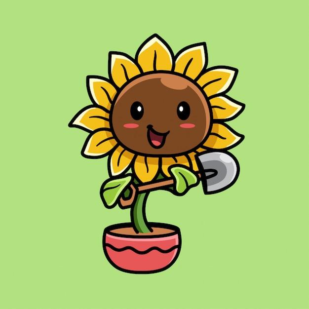 Ilustração da flor do sol Vetor Premium