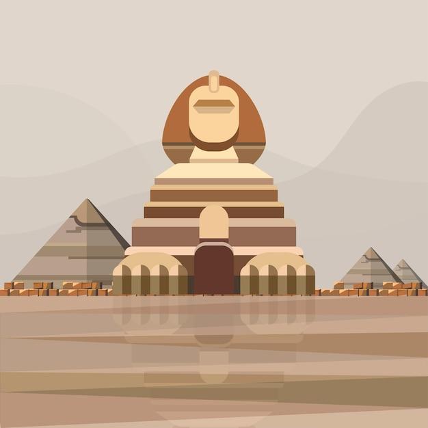 Ilustração da grande esfinge de gizé Vetor grátis