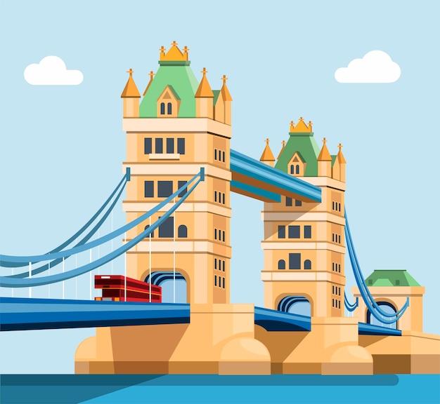Ilustração da london tower bridge Vetor Premium