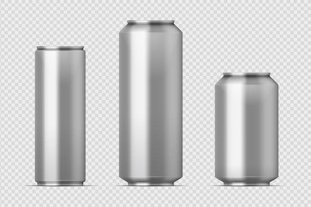 Ilustração da maquete de lata de cerveja Vetor Premium