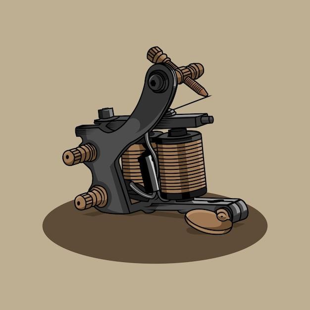 Ilustração da máquina de tatuagem Vetor Premium