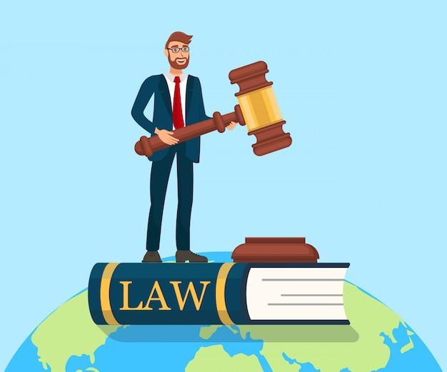 Ilustração da metáfora do estado de direito Vetor Premium