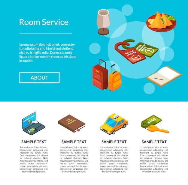 Ilustração da página de ícones do hotel. serviços de hotéis Vetor Premium