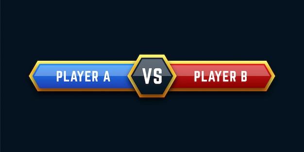 Ilustração da placa versus Vetor Premium