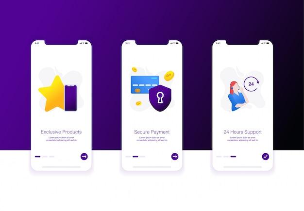 Ilustração da tela de integração do comércio eletrônico Vetor Premium