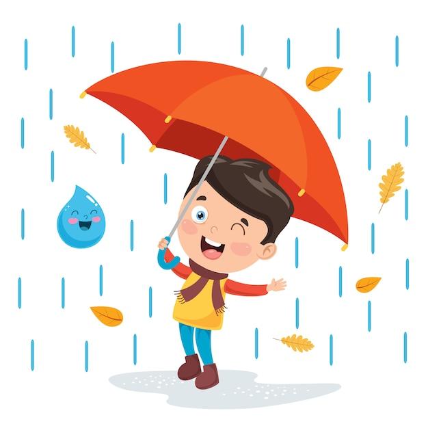 Ilustração da temporada de outono Vetor Premium