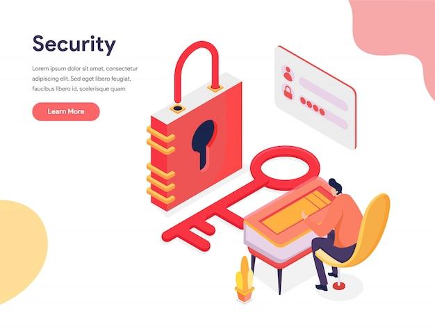 Ilustração de acesso e segurança Vetor Premium