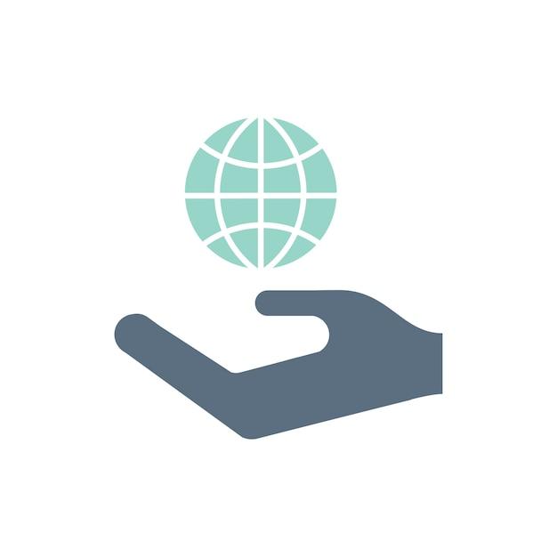 Ilustração, de, ambiental, apoio, ícones Vetor grátis