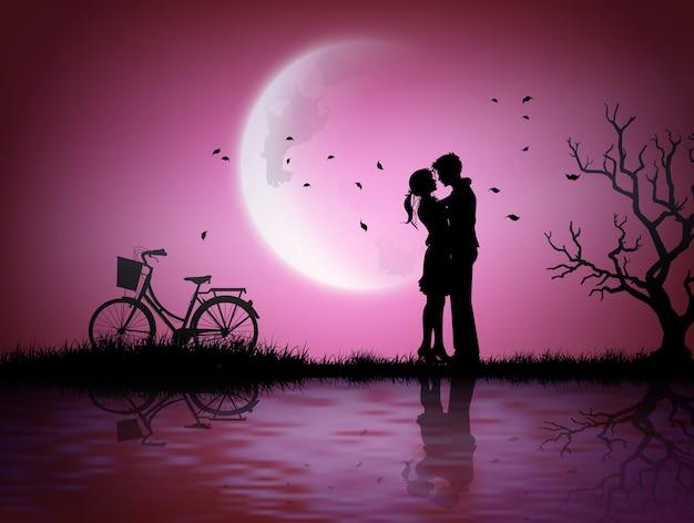 Ilustração de amor e dia dos namorados. Vetor Premium