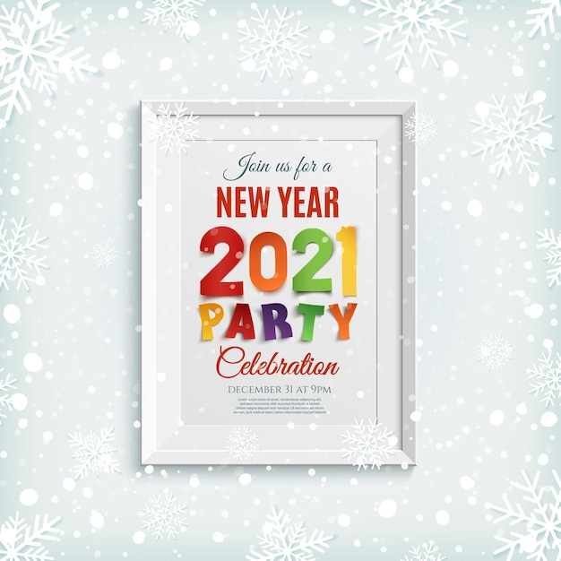 Ilustração de ano novo Vetor Premium