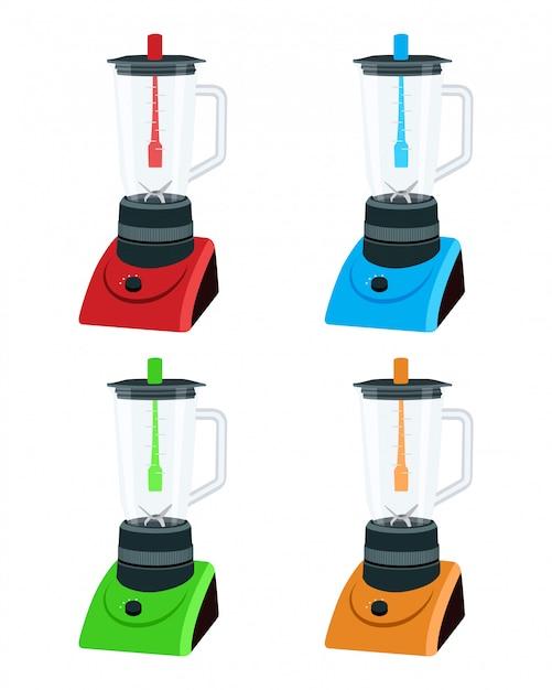 Ilustração de aparelho de cozinha liquidificador Vetor Premium