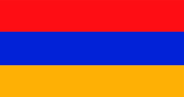 Ilustração, de, arménia, bandeira Vetor grátis