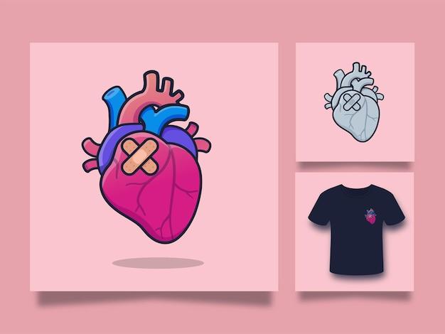 Ilustração de arte de coração Vetor Premium