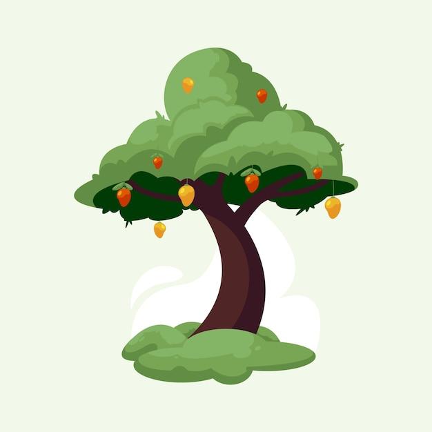 Ilustração de árvore de manga Vetor grátis