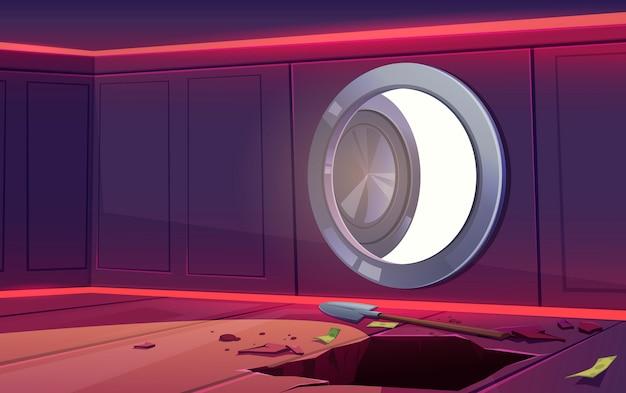 Ilustração de assalto no cofre do banco seguro Vetor grátis