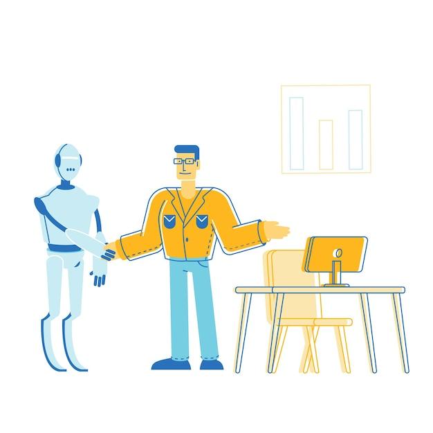 Ilustração de automação em design plano Vetor Premium