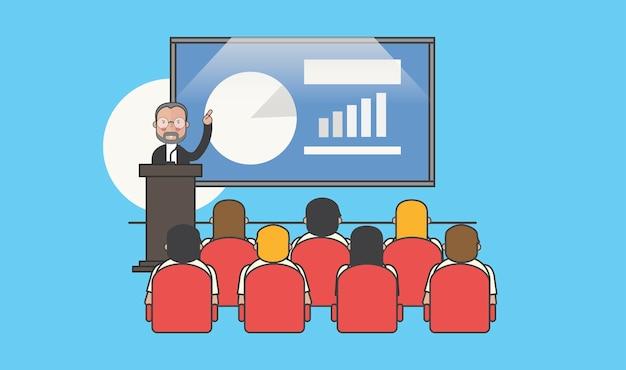 Ilustração de avatar de pessoas de negócios Vetor grátis
