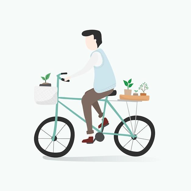 Ilustração de avatar humano com meio ambiente Vetor grátis