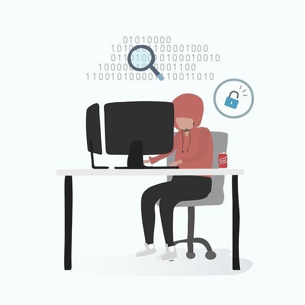 Ilustração de avatar humano usando tecnologia Vetor grátis
