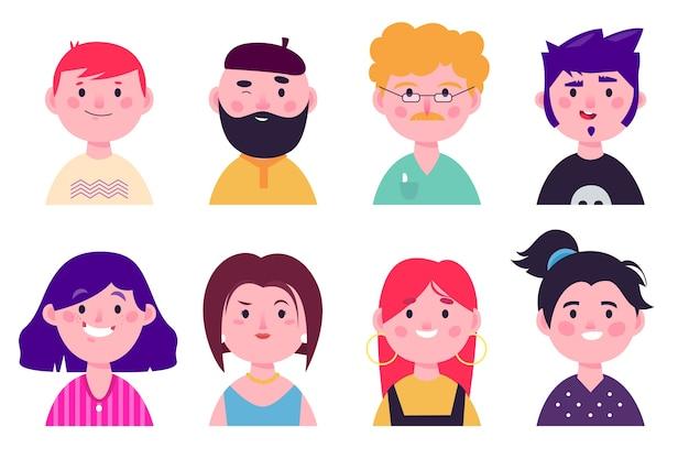 Ilustração de avatares de pessoas Vetor grátis