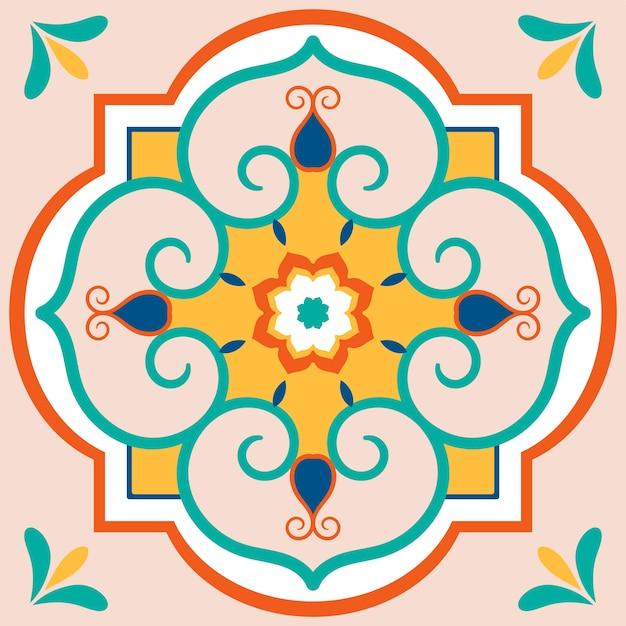 Ilustração, de, azulejos, textured, padrão Vetor grátis