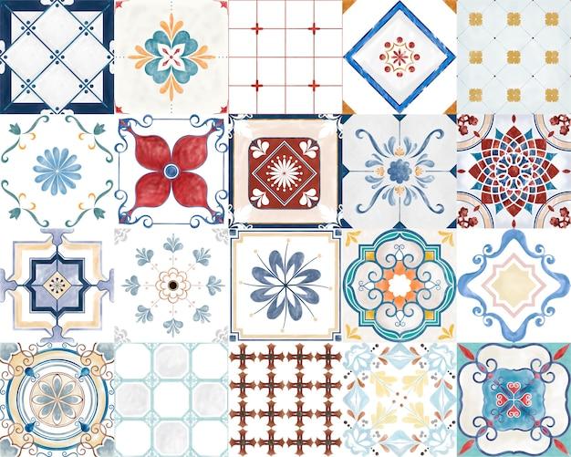 Ilustra 231 227 O De Azulejos Textured Padr 227 O Baixar