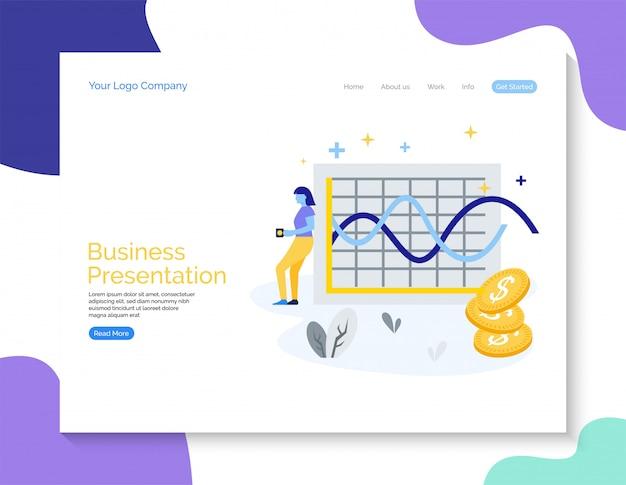 Ilustração de bacground vetor de tela de apresentação de negócios modernos Vetor Premium