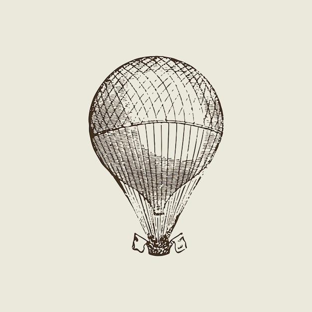 Ilustração de balão de ar quente vintage Vetor grátis
