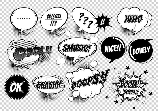 Ilustração de balões de fala em quadrinhos Vetor Premium