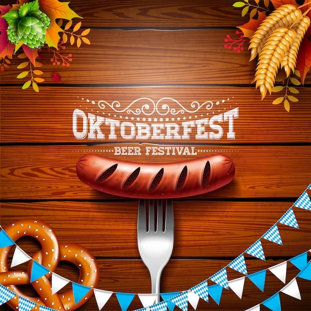 Ilustração de banner da oktoberfest Vetor Premium
