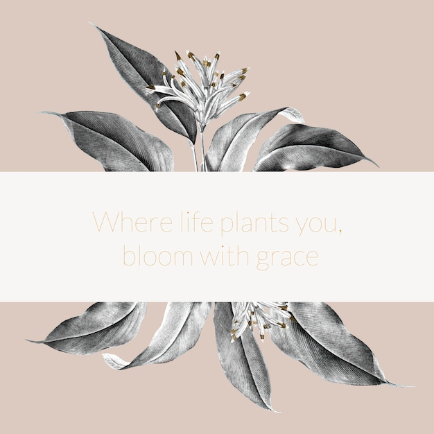 Ilustração de banner de planta tropical Vetor grátis