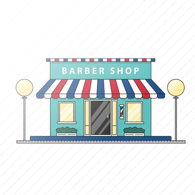 Ilustração de barbearia plana Vetor Premium