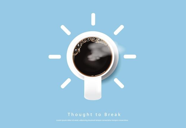 Ilustração de base de propaganda em cartaz de café Vetor grátis