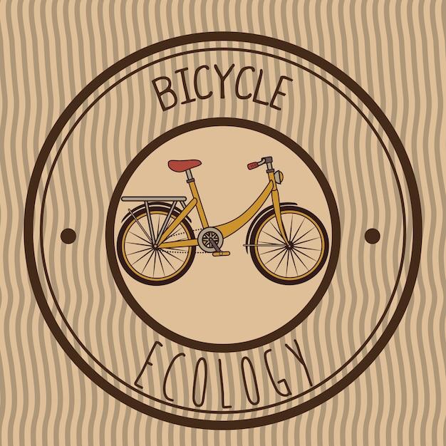 Ilustração de bicicleta emblema retrô Vetor grátis