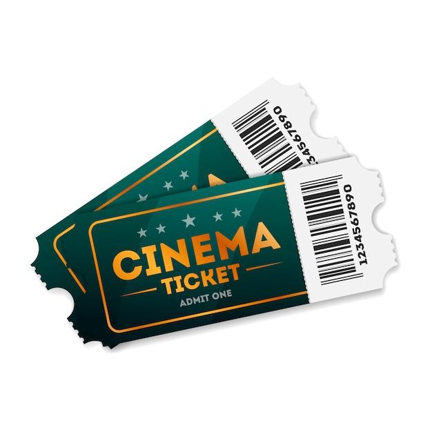 Ilustração de bilhetes de cinema em branco Vetor Premium