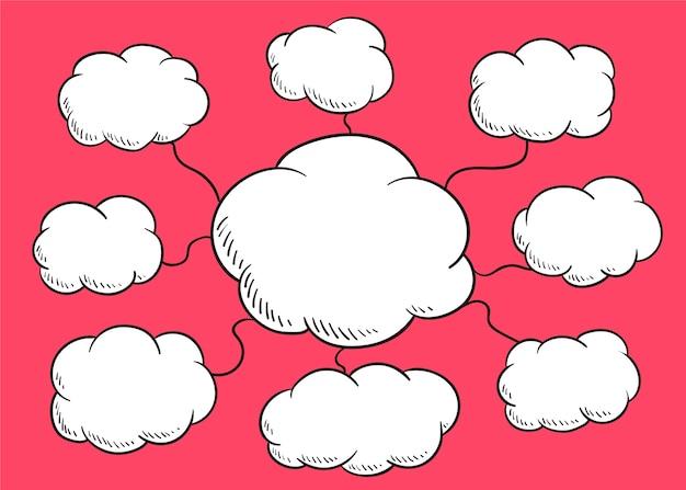 Ilustração de bolha do discurso de nuvem Vetor grátis