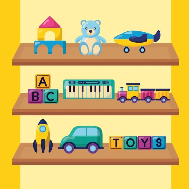 Ilustração de brinquedos de crianças Vetor grátis