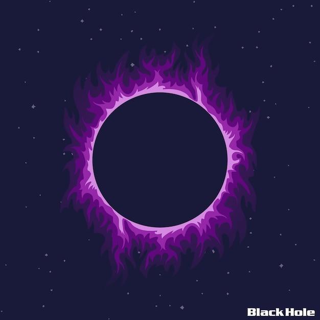 Ilustração de buraco negro Vetor Premium