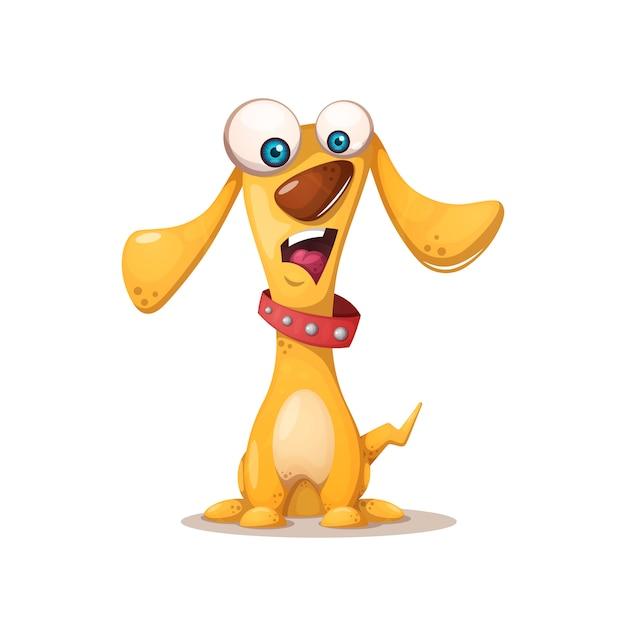 Ilustração de cachorro fofo Vetor Premium