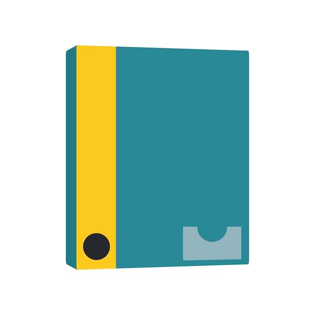 Ilustração, de, caderno, ícone Vetor grátis